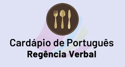 Cardápio de Português - Prato: Regência