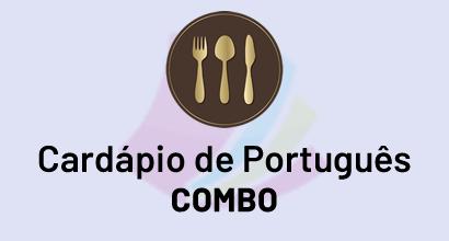 Cardápio de Português - COMBO - Pronomes + Concordância + Conjunções + Verbo + Crase + Regência + Pontuação